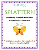 Spring Splattern Packet~Brain Teaser~Four Challenges! (K-3)