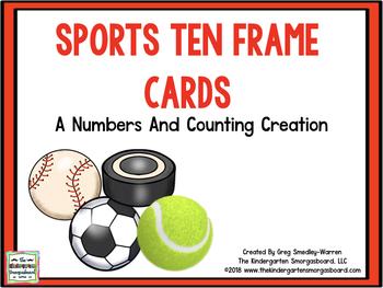 Spring Sports Ten Frame Cards!