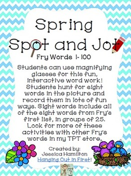 Spring Spot and Jot - Fry Words 1-100