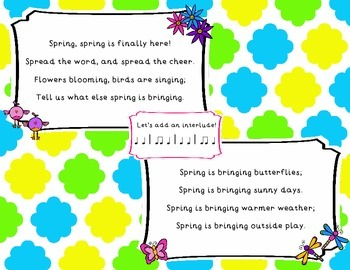 """""""Spring, Spring"""" An original song exploring singing/speaking voices in AB form"""