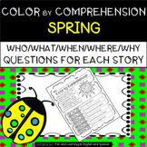 Spring & Spring Break (Color by Comprehension Stories) - D