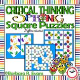 SPRING: Spring Activities, Spring Math Center, Spring Critical Thinking