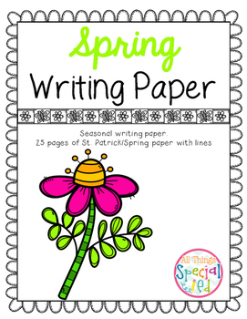 Spring (St. Patrick/Spring)   Writing Paper
