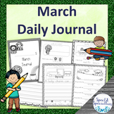 Spring, St. Patrick's Day Journal Writing for Special Education (March)