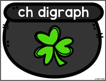 March St. Patricks Day Digraph Sort Activity ch sh th wh