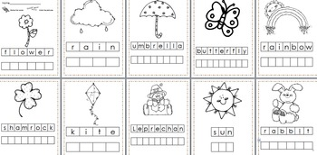 Spring Stamp a Word and Write the Room Centers