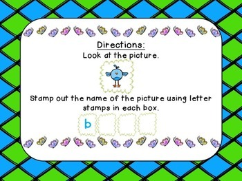 Spring Stamping & Matching Word-Picture Activity