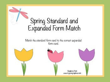 Spring Standard and Expanded Form Match