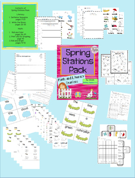 Spring Stations - Math and Literacy
