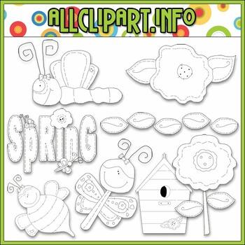BUNDLED SET - Spring Stitches Clip Art & Digital Stamp Bundle - Alice Smith