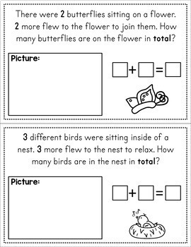 Spring Story Problems - Addition and Subtraction