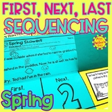 Spring Story Retelling and Sequencing Flap Book | First, Next, Last