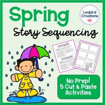 Spring Story Sequencing Cut & Paste