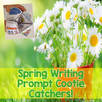 Spring Story Starter Cootie Catchers for Writing Centers and Writing Workshop!