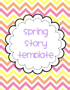 Spring Story Writing Template