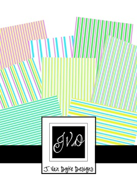 Spring Stripes- Scrapbook Paper