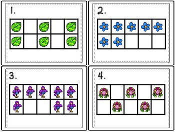 Spring Math Activities - Dot Cards, Ten Frames, Cut and Folds, and More