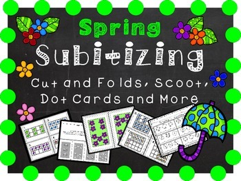 Spring Math Activities - Dot Cards, Ten Frames, Cut and Fo