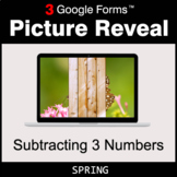 Spring: Subtracting 3 Numbers - Google Forms Math Game | D