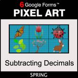 Spring: Subtracting Decimals - Pixel Art Math   Google Forms