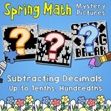 Spring Subtracting Decimals Up to Tenths, Hundredths