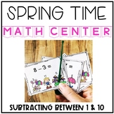 Spring Subtracting Within 10 Interactive Task Cards