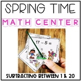 Spring Subtracting Within 20 Center