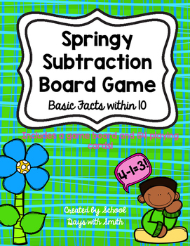 Spring Subtraction Board Game