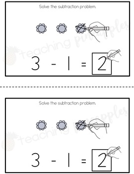Spring Subtraction Booklets