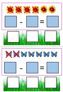 Snapshot of Spring Subtraction Cards for Students With Autism