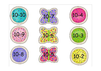 Spring Subtraction Center: Facts to 10