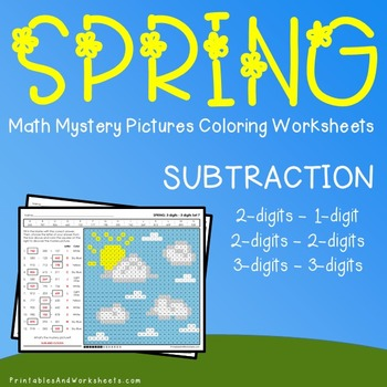 Spring Multiplication Coloring Worksheets Teaching Resources ...
