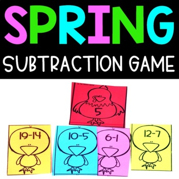 Spring Subtraction Facts