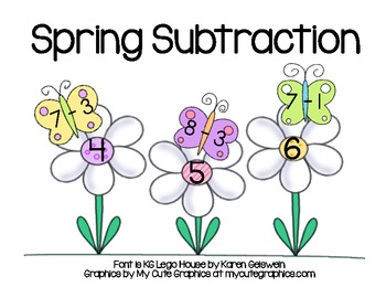 Spring Subtraction - Matching Butterflies and Flowers