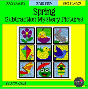Spring Subtraction Mystery Pictures