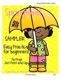 Spring Subtraction Practice NO PREP Sampler