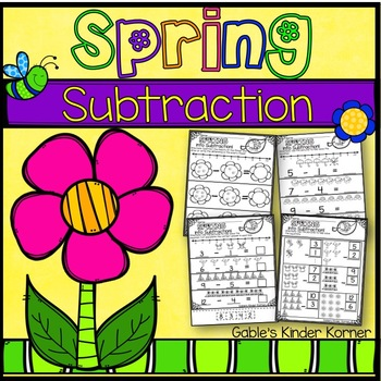 Spring Subtraction *Print-N-Go!*