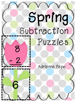 Spring Subtraction Puzzles