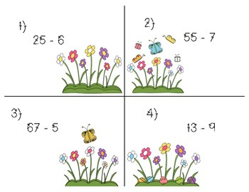 Spring Subtraction Scoot