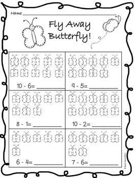 Spring Subtraction Worksheets