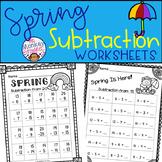 Spring Subtraction Worksheets