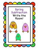 Spring Subtraction Write the Room!