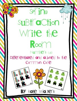 Spring Subtraction Write the Room (Differentiated and aligned to Common Core}