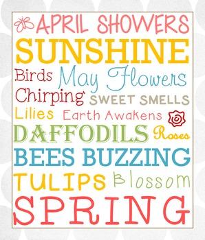 Spring Subway Art Printable