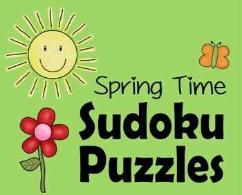 Spring Suduko Puzzles (Preschool - 3rd Grade)