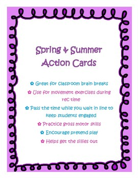 Spring & Summer Action Cards