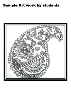 Spring, Summer Art, Paisley Patterns from Ancient India, Distance Learning