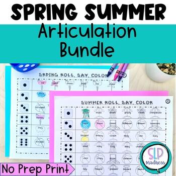 Spring Summer Articulation Roll Say Color Bundle Pack - Sp