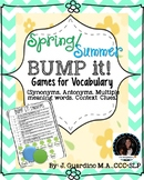 Spring Summer BUMP IT Vocabulary Games Syn, Ant , MMW, Context Clues