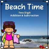 Spring & Summer Math Beach Time Two digit Addition & Subtraction Color by Number